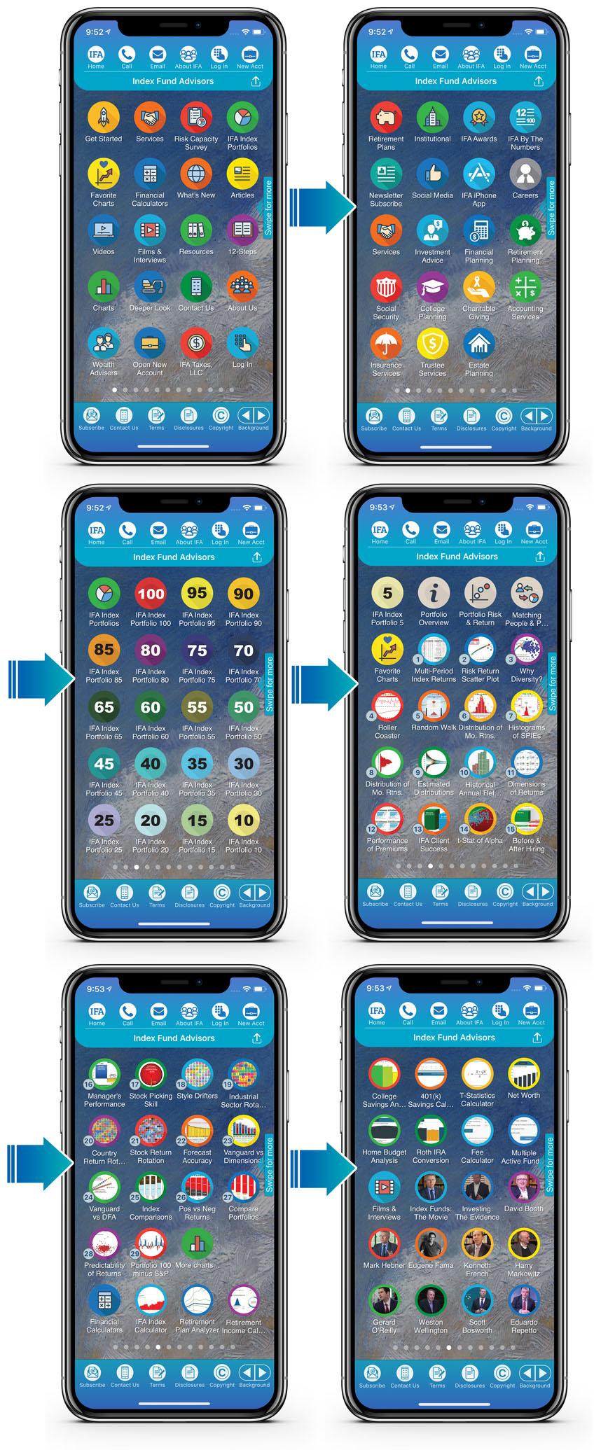 IFA app Menu