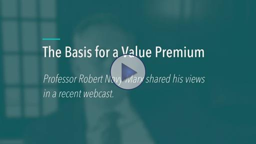 Robert Novy-Marx on the Basis for a Value Premium