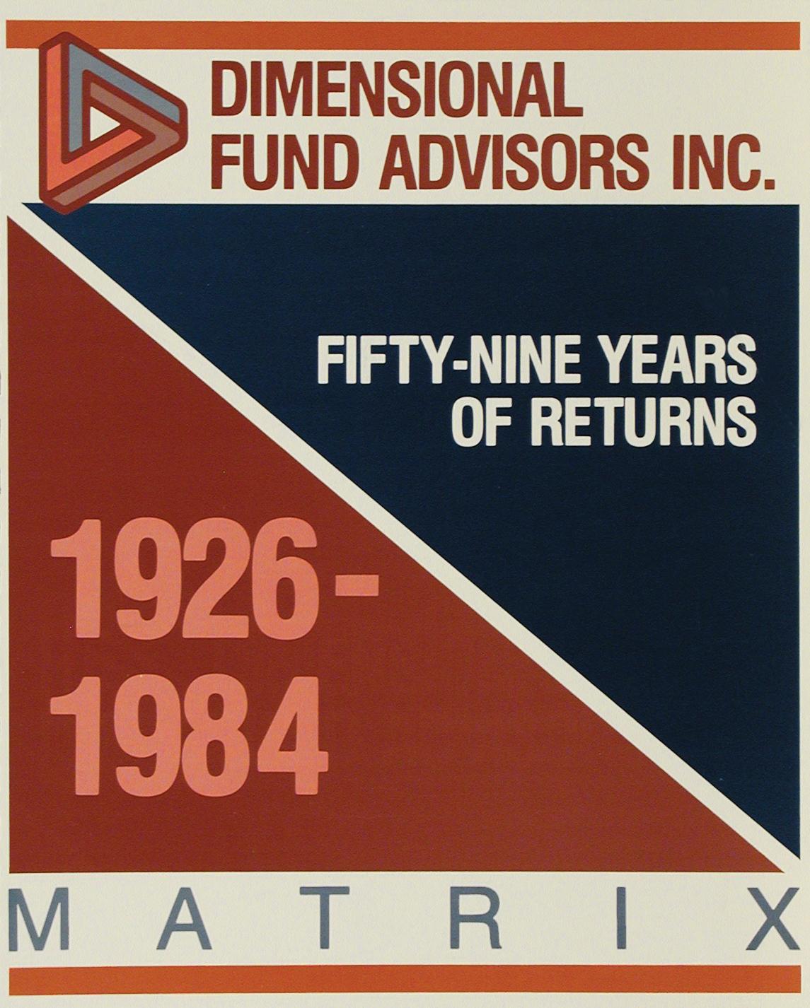 DFA Matrix Book 1984