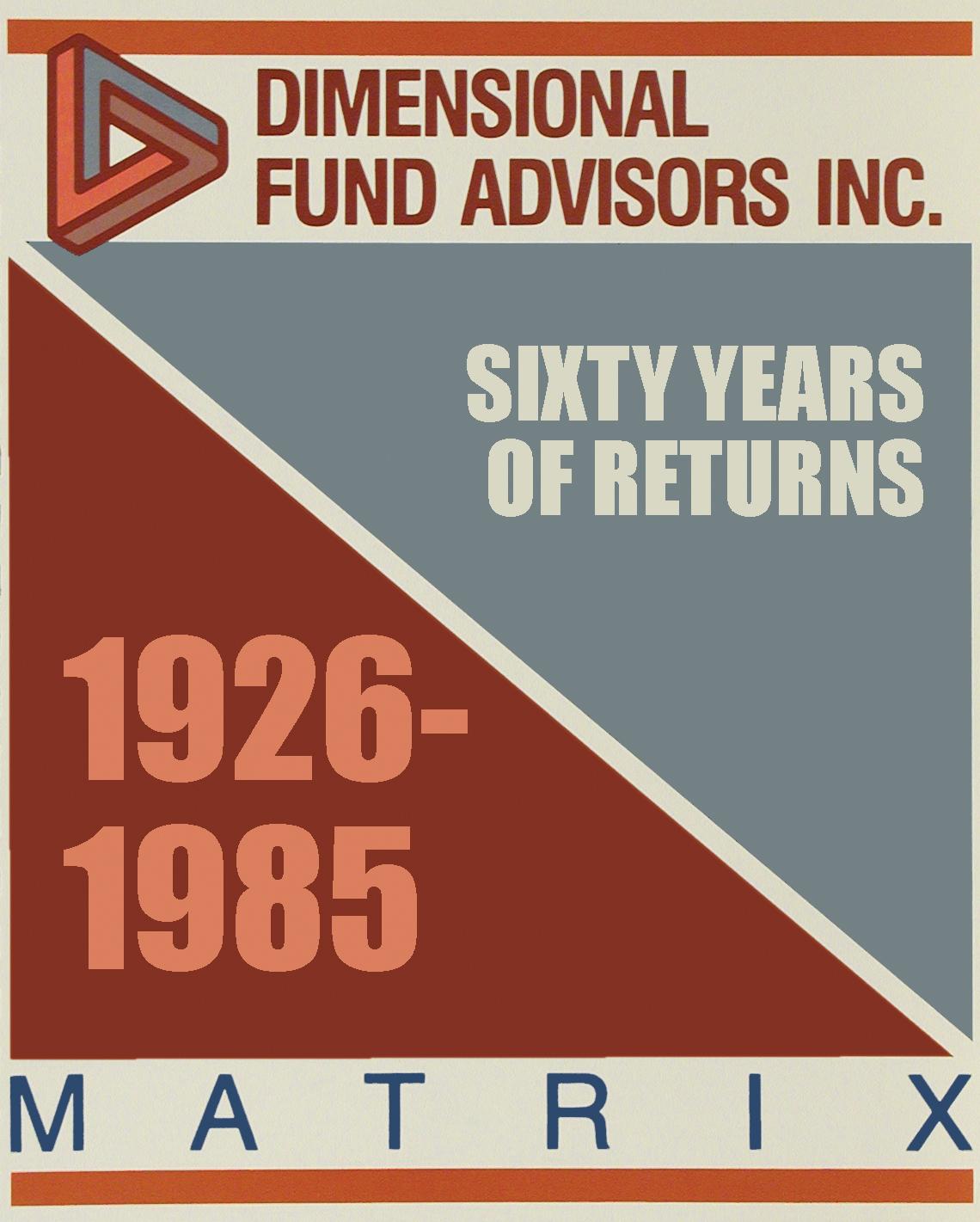 DFA Matrix Book 1985