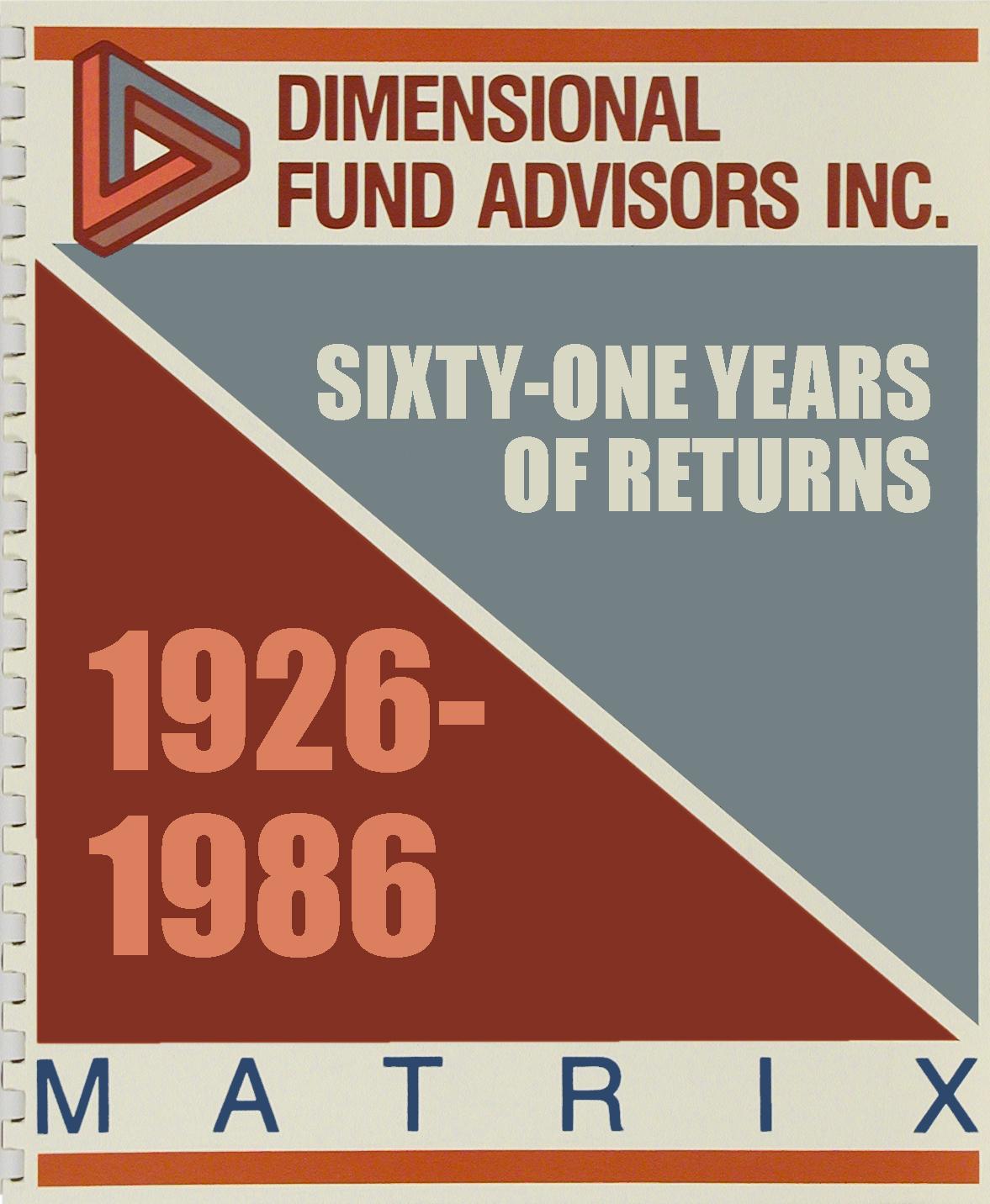 DFA Matrix Book 1986
