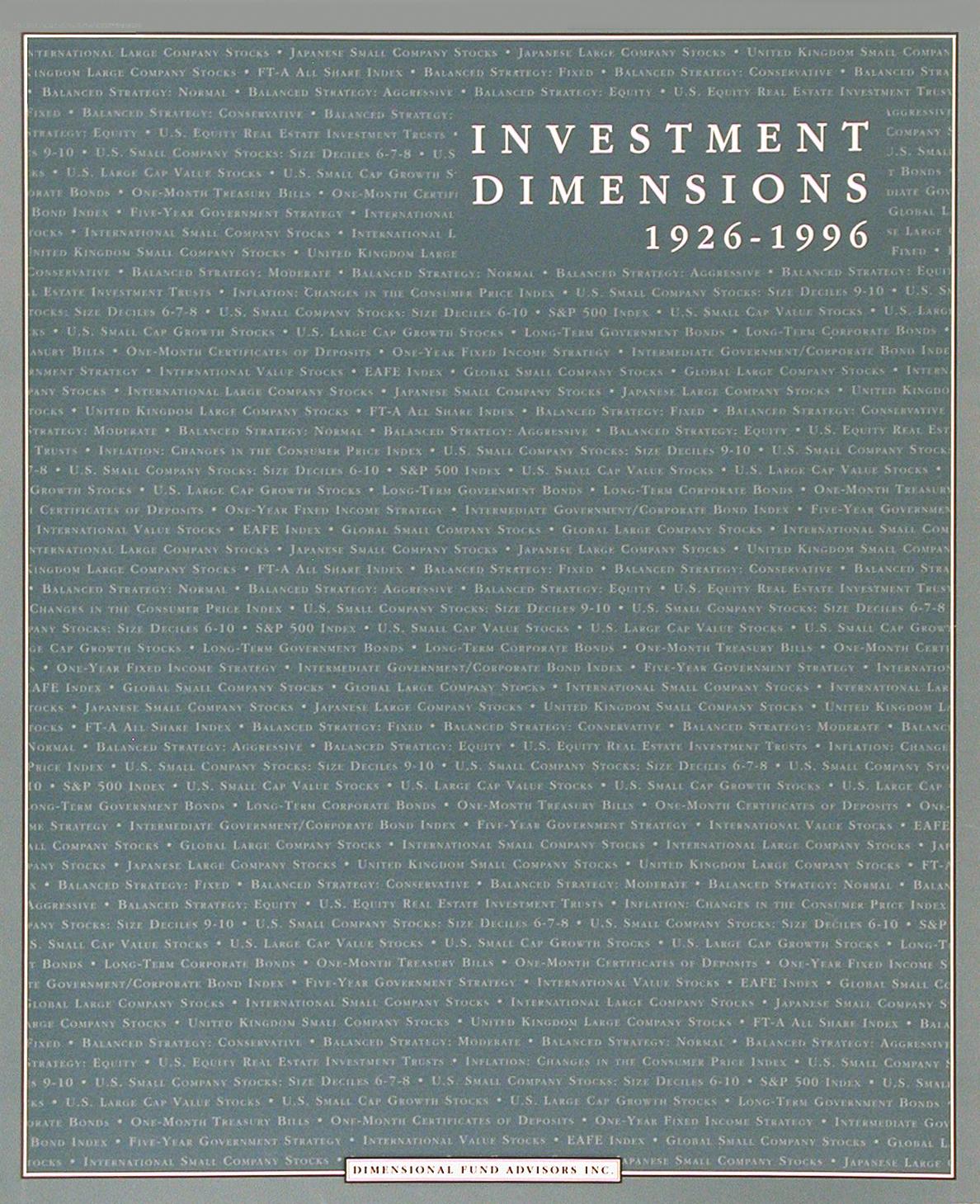 DFA Matrix Book 1996
